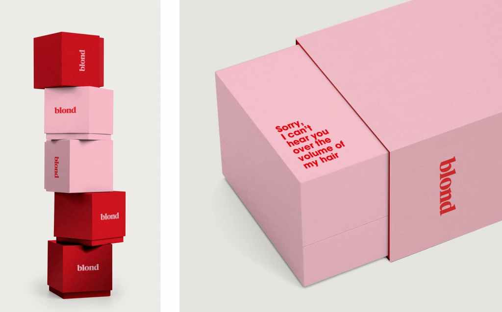 Example of utilizing packaging design through finishes