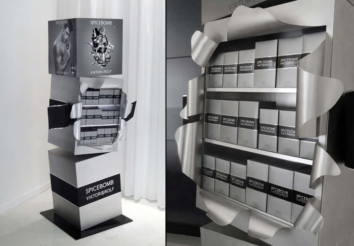 Example of retail display elements