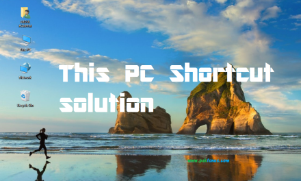 How to get This PC shortcut on desktop windows 10