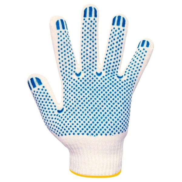Перчатки вязаные белые, с ПВХ Т/В 3 нити