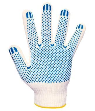Перчатки вязаные белые, с ПВХ Т/В 6 нитей