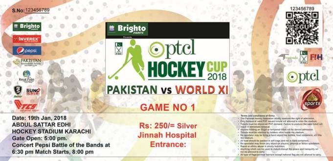World XI vs Pakistan: Tickets Available at selected TCS outlets & Schedule of Match & Concert