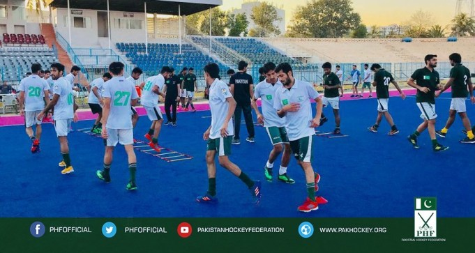 Pakistan Hockey Team Camp for Commonwealth Games at Karachi.