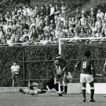 Pakistan scores its winning goal against Spain in the final of 1971 Hockey World Cup.