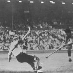 Photo from 1948 Olympics, field hockey semi final, Pakistan v Great Britain, GB won this match 2-0