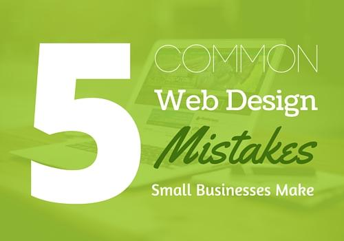 5 common web design mistakes
