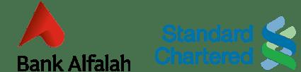 bank alfalah and standard chartered logos