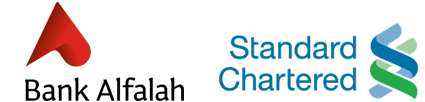 bank alfalah and standard chartered logos
