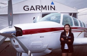 Female pilot began journey around world 8