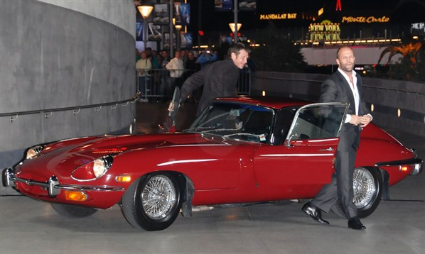 Jason Statham  Jason Flemyng luxury car Jaguar EType pics