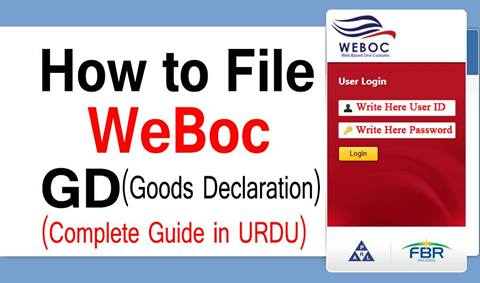 How to File Goods Declaration (Gd) In WeBoc