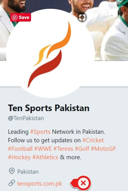TenSports Pakistan official twitter and Website