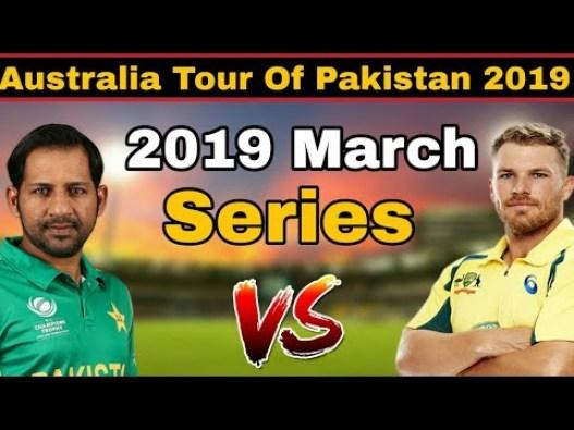 Pakistan vs Australia 2019 Series schedule