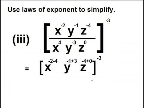 9th class math unit 2, exercise 2.4 Question 1, simplify