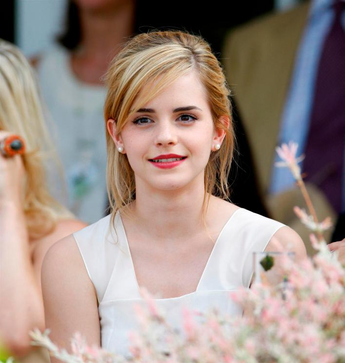 Emma Watson at the Cartier International Polo Day at Guards Polo Club , Windsor.