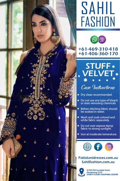 Gul Ahmed Velvet Dresses Online