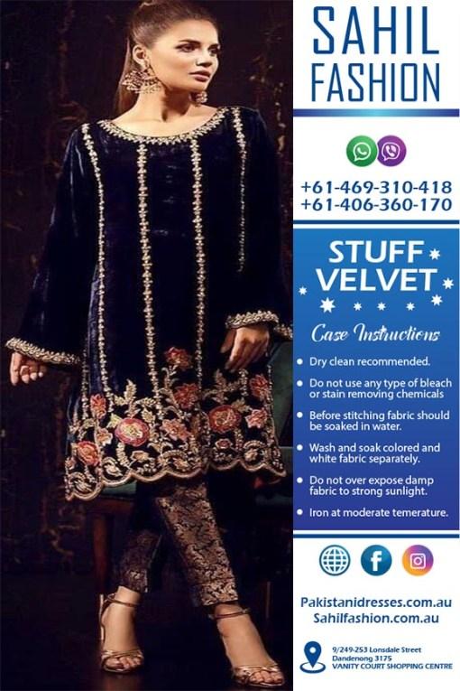 Pakistani Velvet Dresses Online