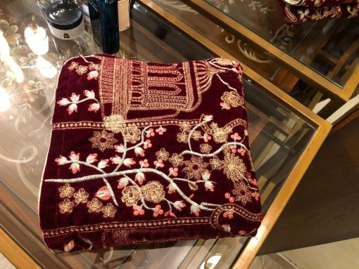Digital Velvet Embroidered Shawls Online