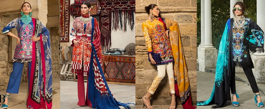 Latest-Sana-Safinaz-Winter-Shawl-Dresses-Collection