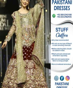 Pakistani Bridal Chiffon Clothes