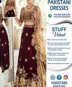 Teena Durrani Wedding Velvet Frock