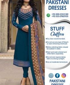 Latest Pakistani Chiffon Dresses Australia