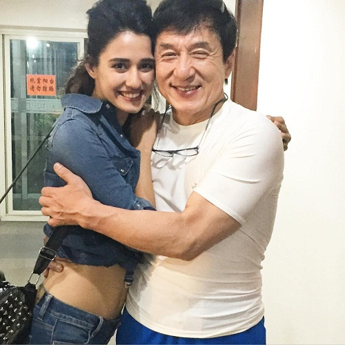 Disha patani and Jackie Chan
