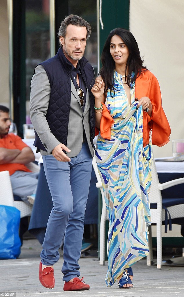 Mallika Sherawat and Cyrille Auxenfans