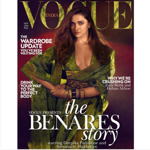 Deepika Padukone on the Cover of Vogue India November Issue