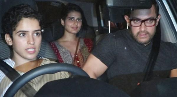 Aamir Khan with Dangal Daughters