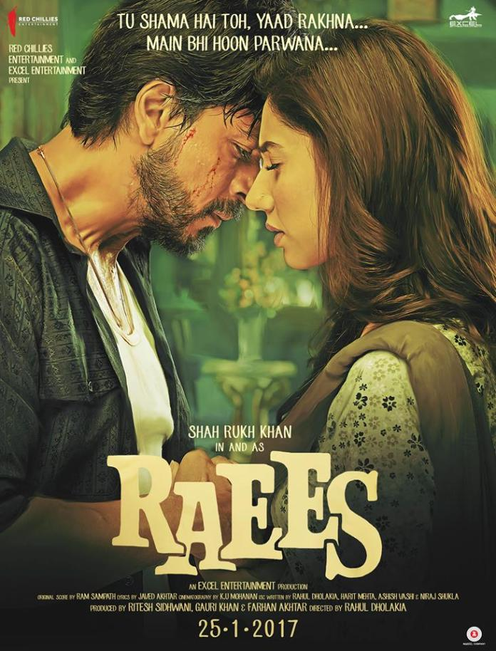 Raees Shahrukh and Mahira Khan Poster