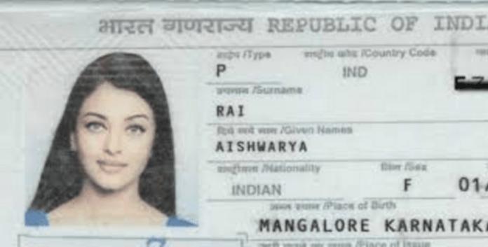 Aishwariya Rai Passport photo