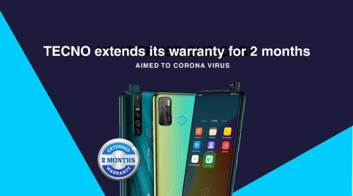 TECNO mobile extend warranties on Smartphones amid coronavirus lockdown