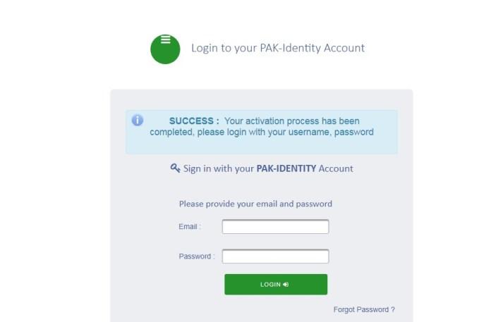 successful verification nadra website online