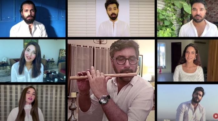 "Pakistani celebrities join Shany for ""Ye Watan Tumhara Hai"" Cover"