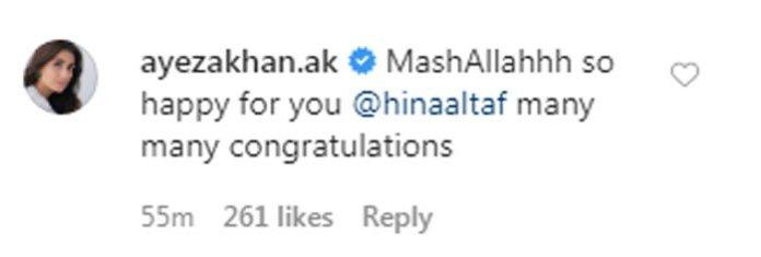 ayeza khan wishes agha ali and hina wedding