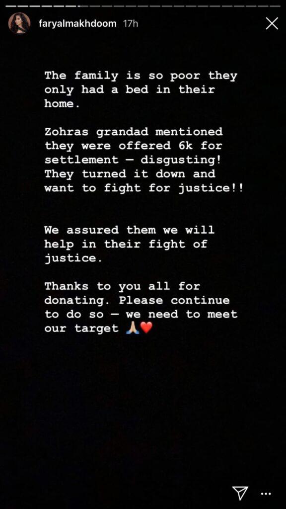 faryal makhdoom stories on instagram