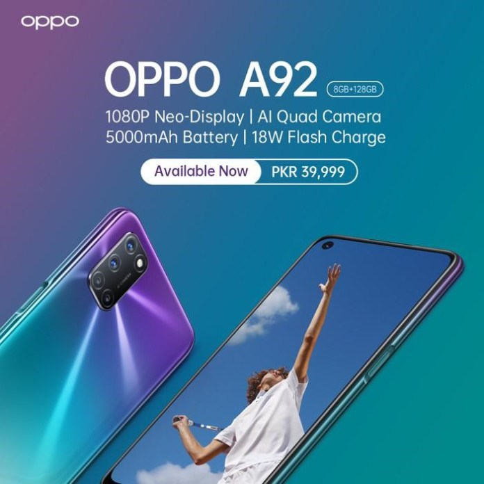 OPPO A92 Price in Pakistan, battery life, camera