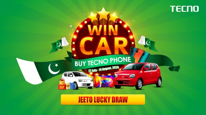 Tecno offers Amazing Prizes, Discounts on Independence Day Campaign