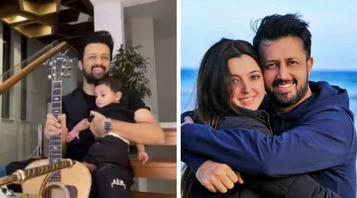 atif aslam with his new born son
