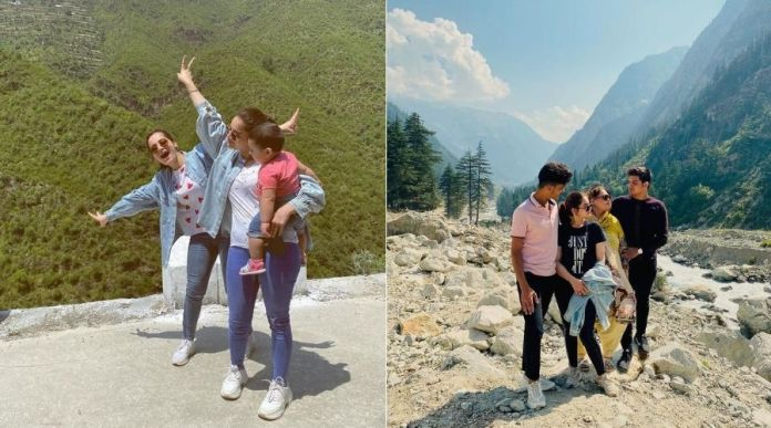 Aiman and Minal Khan with family, enjoying vacations in Northern areas of Pakistan