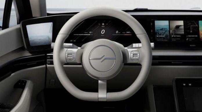 Sony Vision-S steering display