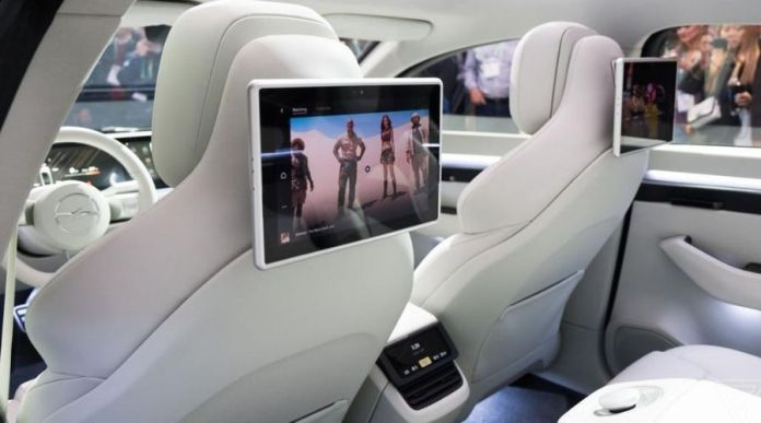 Sony Vision-S back seat display