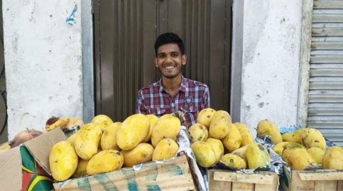 NUST Graduate Usman Ashraf sets up Fruit Stall due to Lockdown