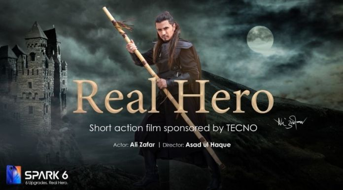Ali Zafar is not working on Ertugrul replica rather on action short film by TECNO