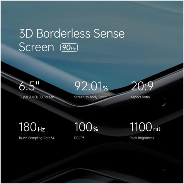 3d bordeless sense screen