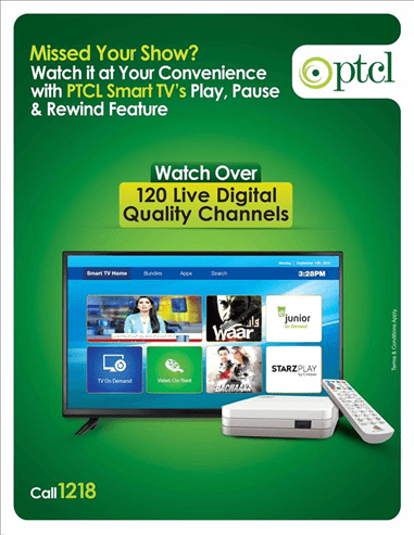 PTCL Smart TV Play Pause feature