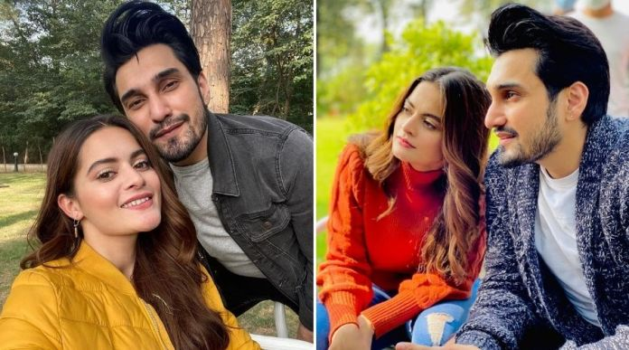 Uzair Jaswal and Minal Khan Teases New Project Together