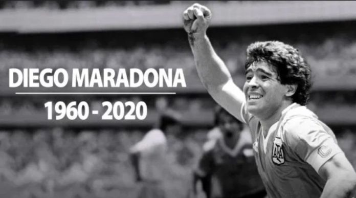 Football legend Diego Maradona Dies of Cardiac Arrest
