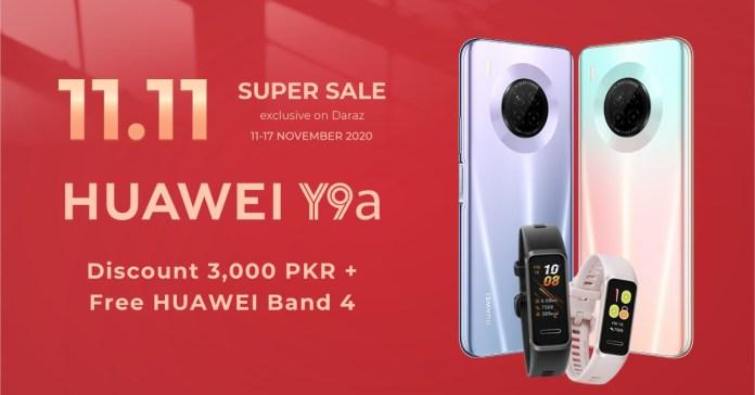 Huawei Y9a Sale on Daraz 11.11